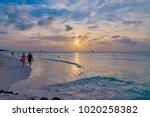 oranjestad  aruba   january 09... | Shutterstock . vector #1020258382