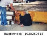 at wat phra pathom chedi.... | Shutterstock . vector #1020260518