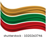 abstract red green yellow... | Shutterstock .eps vector #1020263746