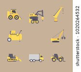 icons construction machinery... | Shutterstock .eps vector #1020264532