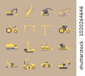 icons construction machinery... | Shutterstock .eps vector #1020264646