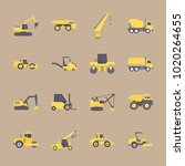 icons construction machinery... | Shutterstock .eps vector #1020264655