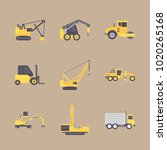 icons construction machinery... | Shutterstock .eps vector #1020265168