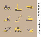 icons construction machinery... | Shutterstock .eps vector #1020265252