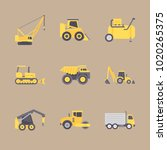 icons construction machinery... | Shutterstock .eps vector #1020265375