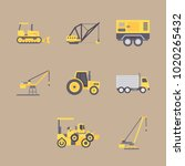 icons construction machinery... | Shutterstock .eps vector #1020265432