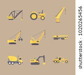 icons construction machinery... | Shutterstock .eps vector #1020265456