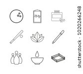 medical linear icon set. simple ... | Shutterstock .eps vector #1020266248