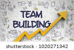 team building inscription on... | Shutterstock . vector #1020271342