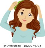 illustration of a teen girl... | Shutterstock .eps vector #1020274735