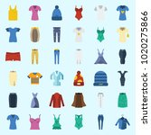icons about women clothes with... | Shutterstock .eps vector #1020275866