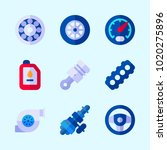 icons about car engine with... | Shutterstock .eps vector #1020275896