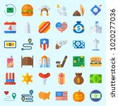 icons about united states with... | Shutterstock .eps vector #1020277036