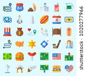 icons about united states with... | Shutterstock .eps vector #1020277966