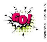 go  run  do it hand drawn... | Shutterstock .eps vector #1020282772