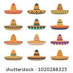set of sombrero hats | Shutterstock .eps vector #1020288325