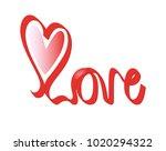 love vector on white background.... | Shutterstock .eps vector #1020294322
