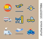 icons transport with departure... | Shutterstock .eps vector #1020297886