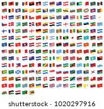 all national waving flags from... | Shutterstock .eps vector #1020297916