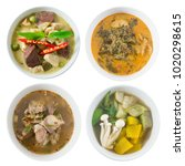 thai cuisine and food  top view ...   Shutterstock . vector #1020298615