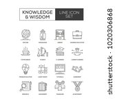knowledge and wisdom line icon | Shutterstock .eps vector #1020306868
