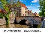 Bruges Belgium Vintage Stone...