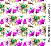 seamless pattern with colorful... | Shutterstock . vector #1020309298