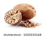 Nutmeg Isolated. Whole Nut And...