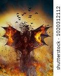 demon 3d illustration concept... | Shutterstock . vector #1020312112