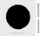 grunge circle black   abstract... | Shutterstock .eps vector #1020312682