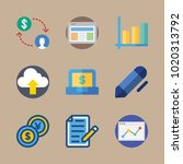 icons marketing with checklist  ... | Shutterstock .eps vector #1020313792