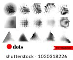 abstract halftone effect with... | Shutterstock .eps vector #1020318226