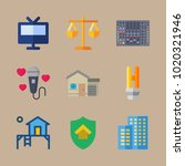 icons real assets with house ... | Shutterstock .eps vector #1020321946