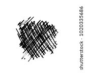grunge ink pen stroke   Shutterstock .eps vector #1020335686