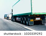 truck on road container ... | Shutterstock . vector #1020339292