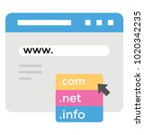 domain name registration flat... | Shutterstock .eps vector #1020342235