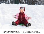 the child moves off the hill on ... | Shutterstock . vector #1020343462