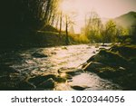 magnificent landscape  mountain ... | Shutterstock . vector #1020344056