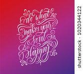 stylized inspirational... | Shutterstock .eps vector #1020344122