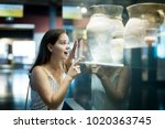 smiling young beautiful girl... | Shutterstock . vector #1020363745