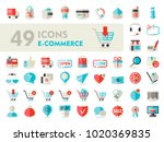 e commerce set vector icons...
