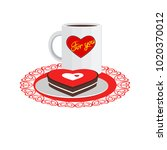vector illustration. cup of tea ... | Shutterstock .eps vector #1020370012