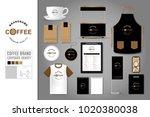 corporate identity template set ... | Shutterstock .eps vector #1020380038
