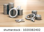 3d illustration of male and... | Shutterstock . vector #1020382402