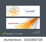 abstract vector set of modern... | Shutterstock .eps vector #1020383728