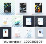 mega set of abstract templates... | Shutterstock .eps vector #1020383908