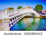 the most famous bridge in... | Shutterstock . vector #1020384142