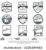 set  travel logo  tourism... | Shutterstock .eps vector #1020389482