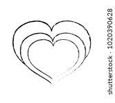 grunge heart love symbol of... | Shutterstock .eps vector #1020390628