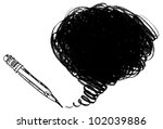 pencil shading. hand drawn.... | Shutterstock .eps vector #102039886